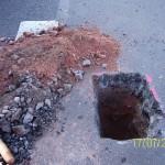 Asphaltaufbruch Geotechnisches Ingenieurbüro Wabra | GIW Wabra